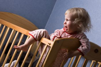 If baby cries when you put her to bed, you may be putting her to bed too early